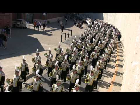 Purdue Band 2011 Arriving at the North side of Ross-Ade