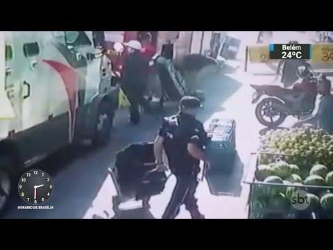 Segurança é morto em assalto a carro-forte na Grande São Paulo   SBT Notícias (30/05/18)