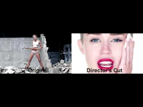 Miley Cyrus  Wrecking Ball  Comparison Original & Directors Cut