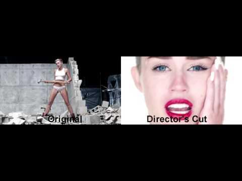"Miley Cyrus - ""Wrecking Ball"" Video Comparison (Original & Director's Cut)"