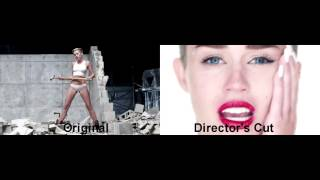 "Miley Cyrus - ""Wrecking Ball"" Video Comparison (Original & Director"