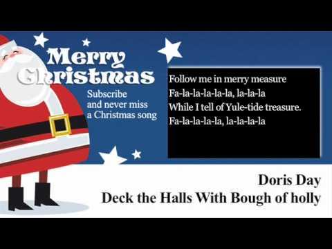 Doris Day - Deck the Halls With Boughs of Holly - Lyrics (Paroles)