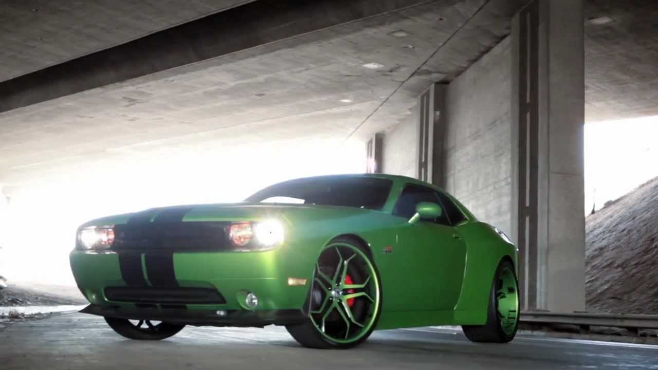 Nice wide body dodge challenger srt8 with 24 asanti concave cx 173 wheels