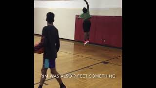"""6""""3 15 year old Dunk progression Video"""
