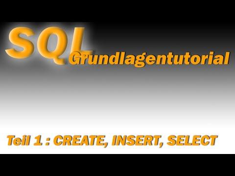 ...ein SQL Tutorial - Teil1: CREATE, INSERT, SELECT