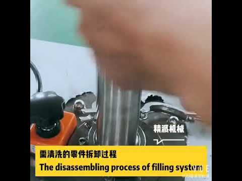 How to clean the filling system on tube filling machine?