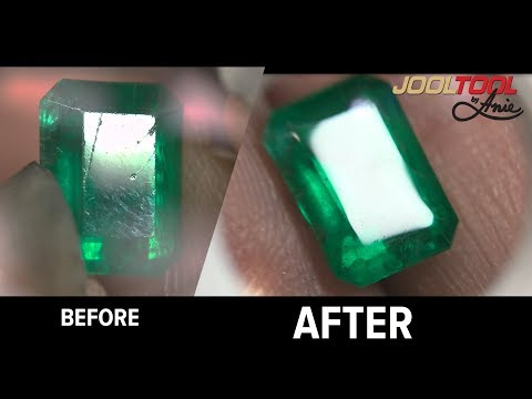 Emerald polished on the Jooltool by Anie