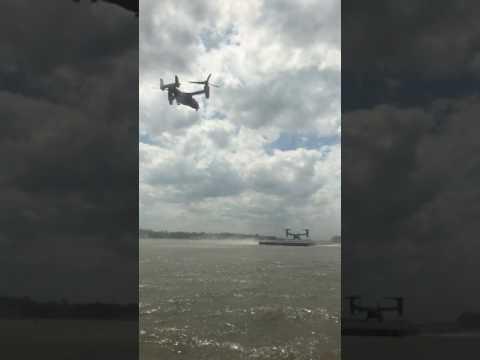 Marine One Landing - Pier 11, NYC