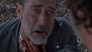 The Walking Dead 8x16 - Rick Slits Negan