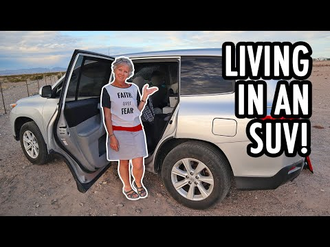 How to Live Fulltime in an SUV! (Toyota Highlander Camper Tour)