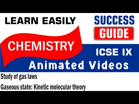 ICSE CLASS IX CHEMISTRY Study of gas laws-3-Gaseous state: Kinetic molecular theory BY SUCCESS GUIDE