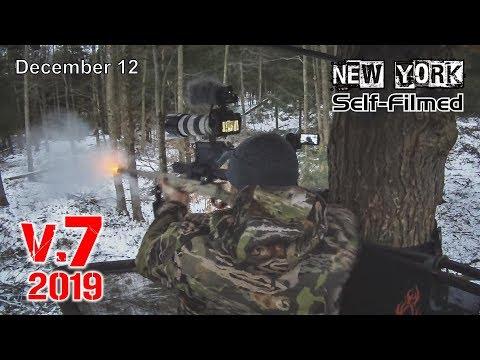 V.7 LATE MUZZLELOADER BUCK! - NY Self Filmed Deer Hunting On Small Property
