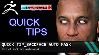 QUICK TIP ZBRUSH TUTORIAL _ BACKFACE AUTO MASK