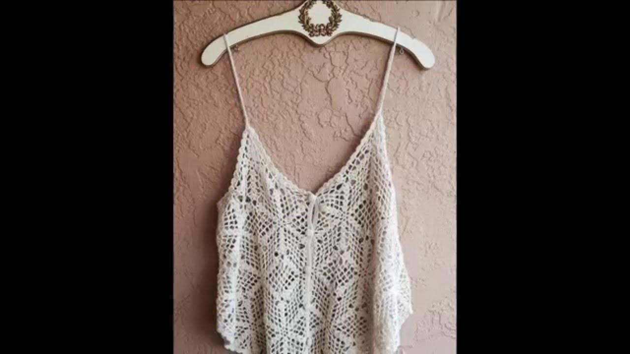 Crop tops tejidos a crochet - YouTube