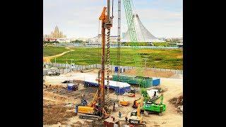 Сваи CFA глубиной 30 метров, диаметром 800 мм в г. Астана, Казахстан