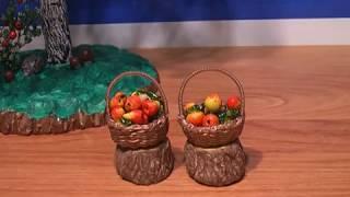 Плетение миниатюрной корзинки. // Часть 2/2. //  Weaving a miniature basket.
