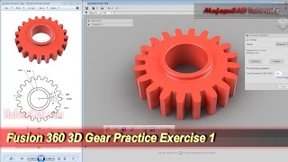 Fusion 360 3D Sketch Gear Tutorial | Beginner Practice 1