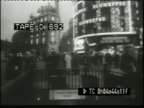 Early 1960s London- Piccadilly Circus and Soho, day and night