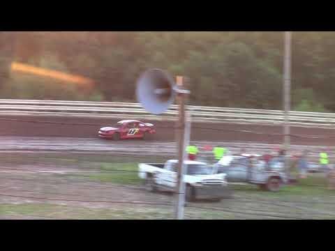 Hummingbird Speedway (7-7-18): Aaron's Four-Cylinder Heat Race #2