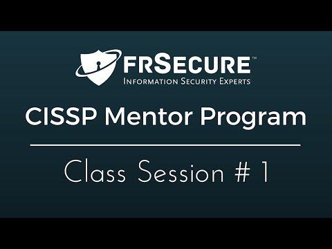 Class Session 1 - FRSecure 2016 CISSP Mentor Program