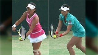 久留米国際女子テニス2012 2回戦 二宮真琴 VS 中村藍子
