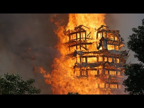 Asia's Tallest Wooden Pagoda Burns To Ground After Huge Fire
