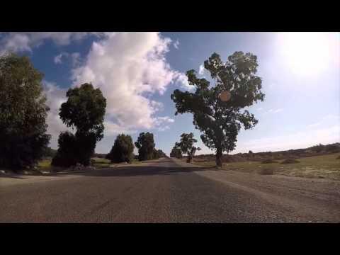 Tunisie Route vers El Jem filmée en Gopro  / Tunisia Road to El Jem filmed by Gopro
