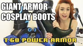 How to Make  Giant Armor Boots for Cosplay [Building T-60 Power Armor]