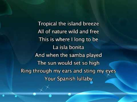 Madonna La Isla Bonita Lyrics In Video Youtube