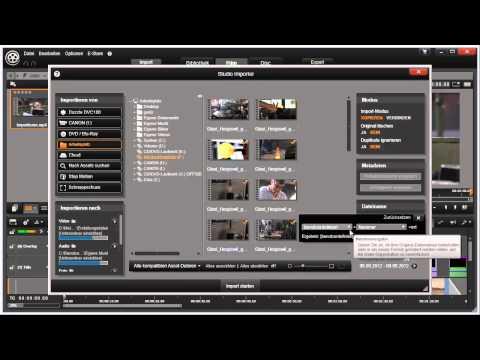 Automatische Unterordner in Pinnacle Studio 16 und 17 Video 6 von 114