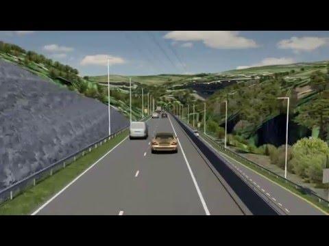 A465 Section 2/Adran 2: Eastbound drive through/y ffordd arfaethedig tua'r dwyrain