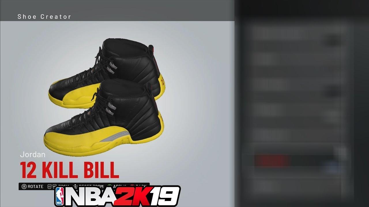 NBA 2K19 Shoe Creator Jordan 12 Kill