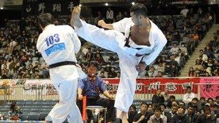 【新極真会】第44回全日本空手道選手権大会 男子準々決勝 島本一二三 VS...