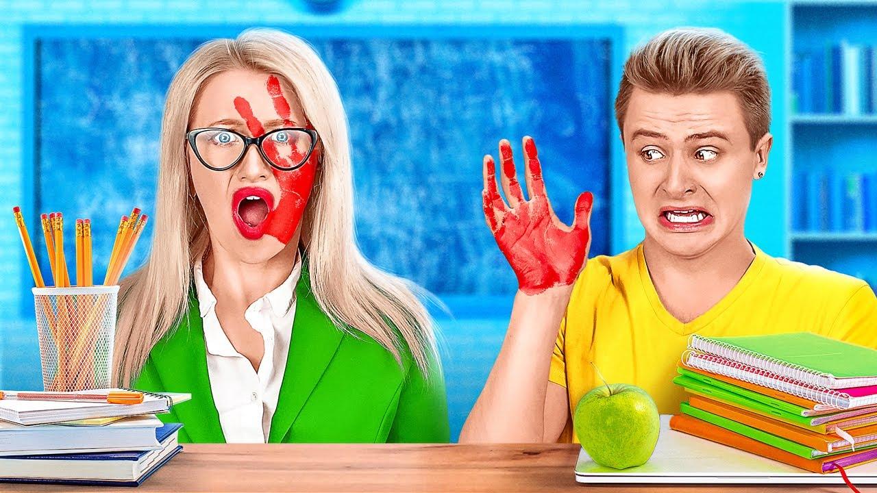 مقالب مدرسية مجنونة || مقالب جريئة ومضحكة بين الأساتذة والطلاب