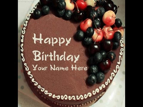 Write Name On Birthday Cake With