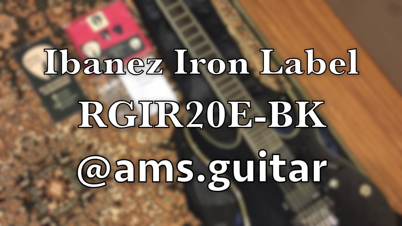 ibanez iron label rgir20e electric guitar with tremolo and emg