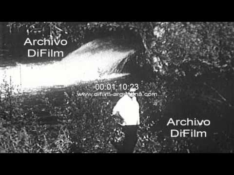 DiFilm - Water pollution in Italy river with toxic waste 1969