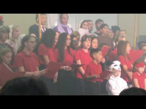 Christmas program in Shady Acres Christian School