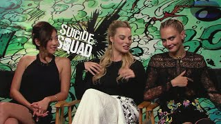 MIX!!!! SUICIDE SQUAD (2016) FUNNY interviews (Part 1) Margot Robbie,Cara Delevingne,Will Smith