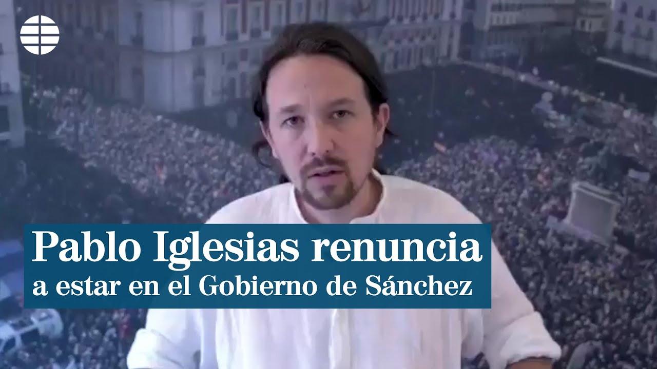 Pablo Iglesias renuncia a entrar en el Gobierno de Pedro Sánchez para facilitar una coalición con Podemos