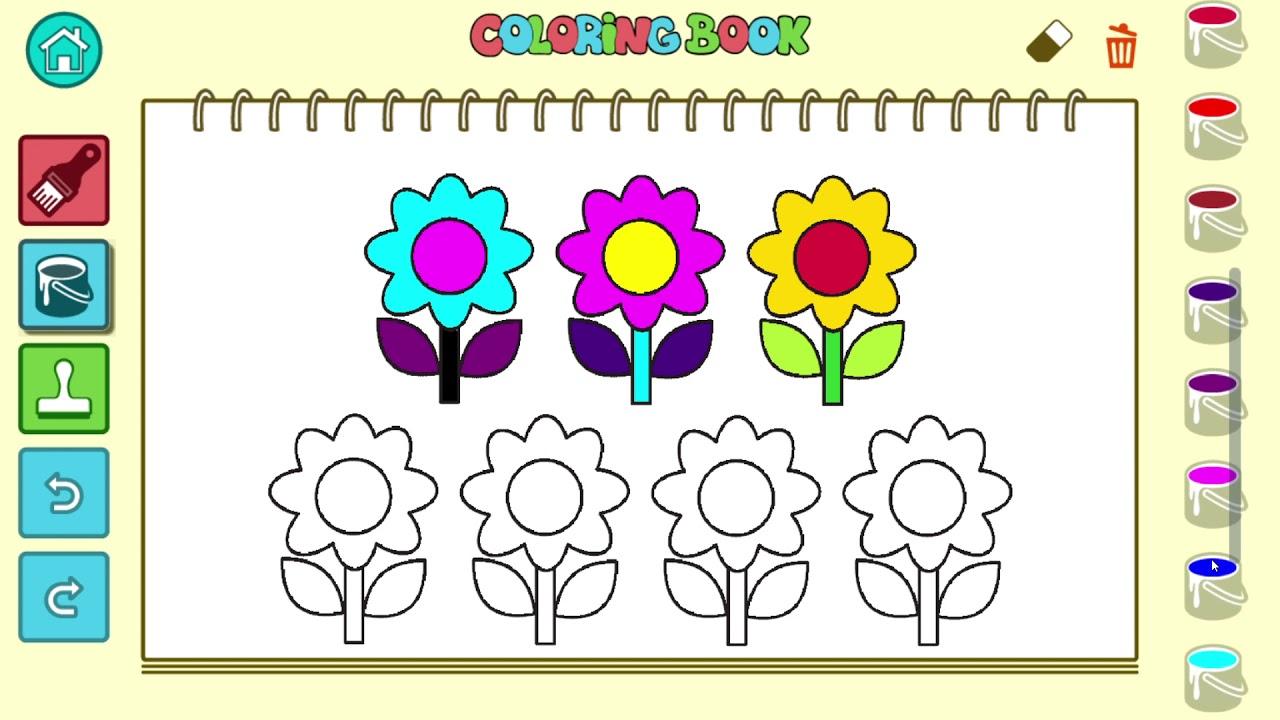 Okul öncesi Kreş Oyunları Renkleri Ve Sayıları öğreniyoruz Boyama
