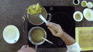 Cooking Demo: Wonton Ravioli With Soya Marinated Prawns And Parmesan Fondue