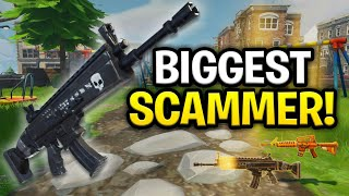 The Worlds Biggest Scammer Ever Scams Himself! (Scammer Get Scammed) Fortnite Save The World