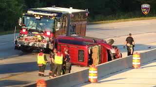 Rollover crash in Greenfield on August 13, 2020