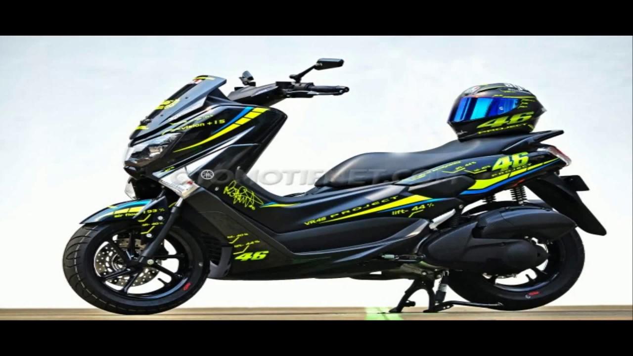 Ini Baruuu Modifikasi Motor Yamaha Nmax Hitam Keren Abisss Youtube