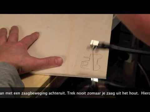 Uitgelezene Figuurzagen instructiefilm - YouTube BT-06