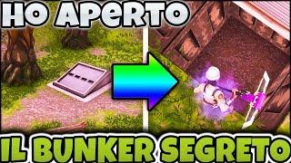 HO TIGHTENING IL BUNKER SEGRETO DI BOSCO BLATERANTE!! FORTNITE ITA VITTORIA REALE