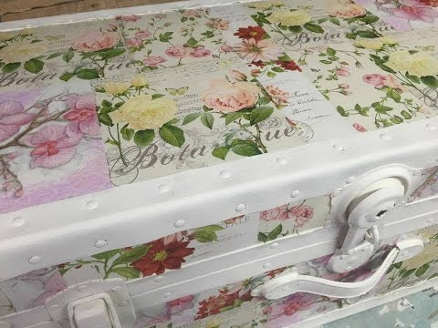 Patchwork-Style Decoupage Trunk
