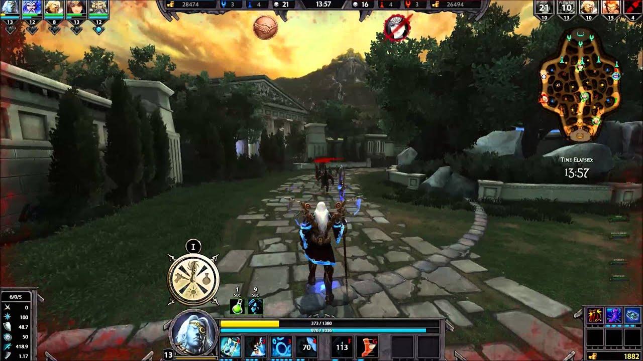 Smite Game Play Chronos Full 5v5 Match Youtube