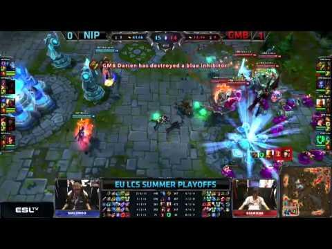 EU lcs 2013 Kayle oneshot kill by gambit Alex Ich vs NIP Caitlyn